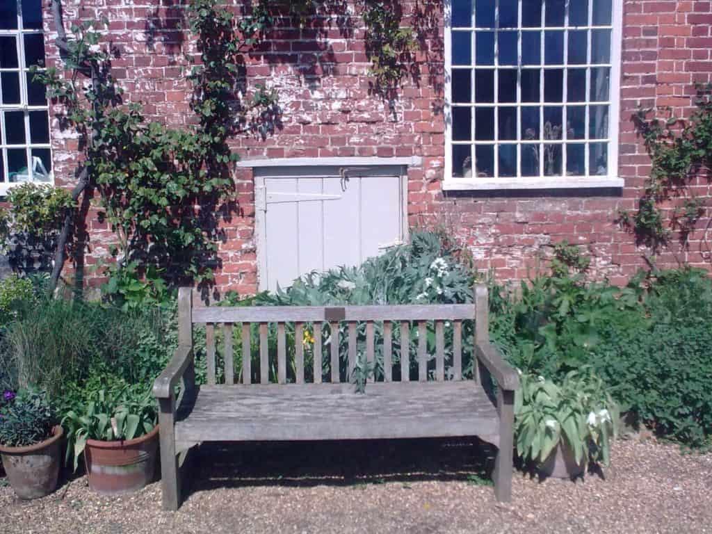 Commemorative bench at FSC Flatford Mill