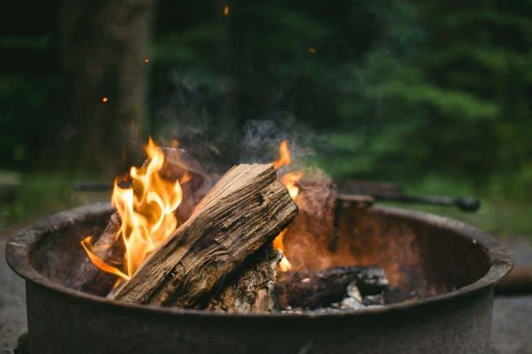 A burning campfire